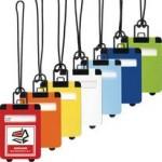 kofferlabels in verschillende kleuren